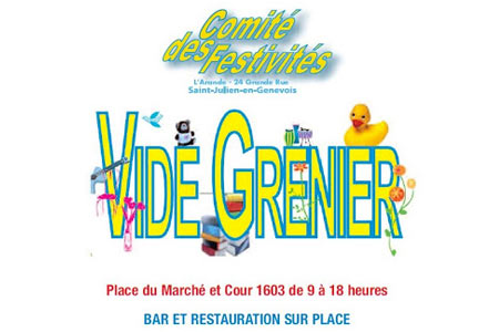 Vide-Grenier 2016, Saint Julien en Genevois